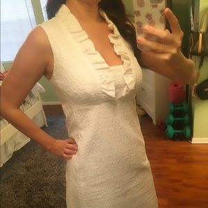 Lilly Pulitzer White Eyelet Lace Dress